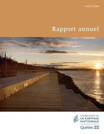 Rapport annuel 2007-2008 - Commission de la capitale nationale