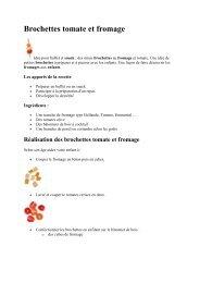 Réalisation des brochettes tomate et fromage - Inserweb