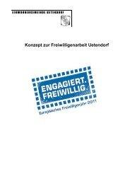 Konzept zur Freiwilligenarbeit Uetendorf - Gemeinde Uetendorf