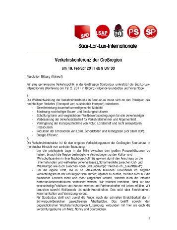 Saar-Lor-Lux-Internationale Internationale Internationale - Jo Leinen