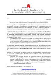 Dokumentvorlage zur einheitlichen Gestaltung - Der Hamburgische ...