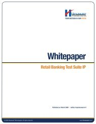 Whitepaper Retail Banking Test Suite IP - Hexaware