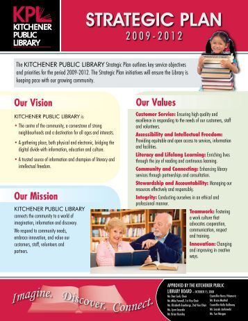 Strategic Plan 2009 - Kitchener Public Library