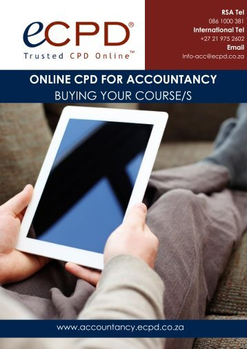 ONLINE CPD FOR ACCOUNTANCY BUYING YOUR COURSE/S