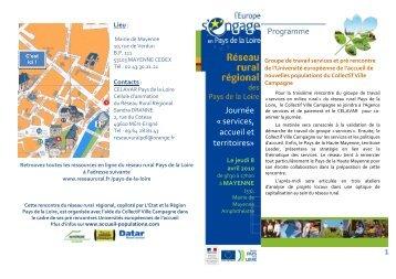 """Programme journée """"Services, accueil et territoires"""" - Réseau Rural ..."""