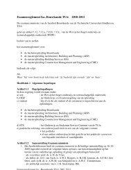 Examenreglement fac. Bouwkunde TU/e 2010-2011 - Technische ...