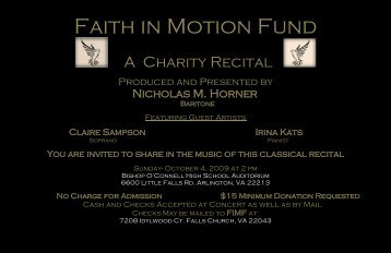 Faith in Motion Fund - Bishop O'Connell High School