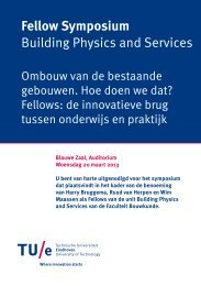 Fellow Symposium Building Physics and Services - Technische ...