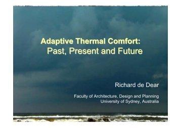 Adaptive Comfort