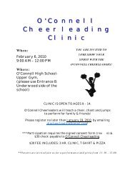O'Connell Cheerleading Clinic - Bishop O'Connell High School