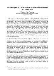 Technologies de l'information et économie informelle : Le ... - Osiris