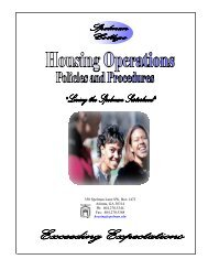 Housing Manual.2 - Spelman College: Home