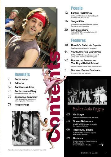 People Features Regulars Ballet Asia Pages - Dance Europe