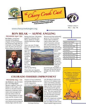 Ron Belak — Alpine Angling - Cherry Creek Anglers