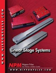 Linear Stage Systems - Dynetics, distributor of small motors fans