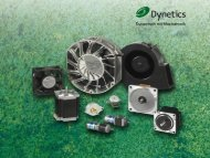 Company profiler - Dynetics, distributor of small motors fans and ...