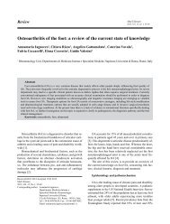 Osteoarthritis of the foot: a review of the current state of knowledge