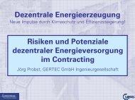 Risiken und Potenziale dezentraler Energieversorgung im ... - Gertec