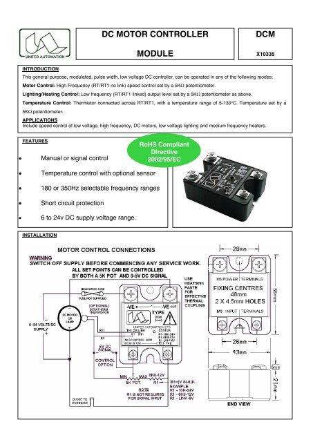 DCM DC MOTOR CONTROLLER MODULE - Farnell