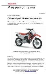 Presseinformation Honda CRF110F 30-05-2012