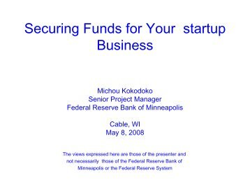 Securing Funds for Your startup Business