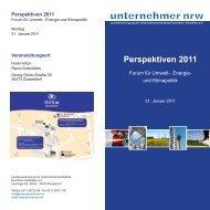 Perspektiven 2011 - Unternehmerverbände Rhein-Wupper