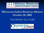 New Market Tax Credits & Other Funding Opportunities