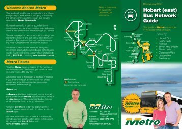 Hobart (east) Bus Network Guide - Metro Tasmania