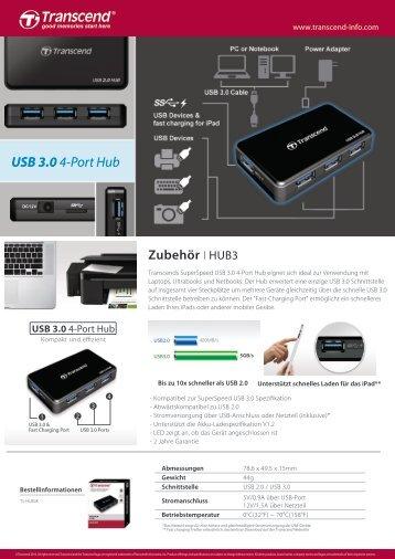 USB 3.04-Port Hub - Transcend