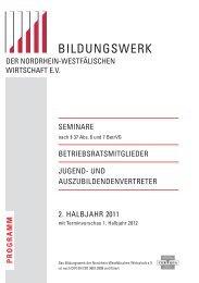 und Auszubildendenvertreter - Unternehmerverbände Rhein-Wupper