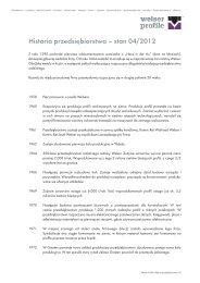Historia firmy - Welser Profile Austria GmbH