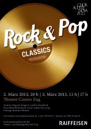 Programmheft – Rock & Pop Classics - Chor Audite Nova Zug