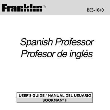 Spanish Professor Profesor de inglés - Ectaco