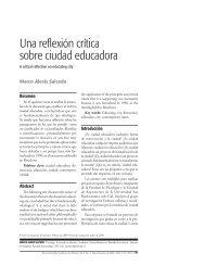 Una reflexión crítica sobre ciudad educadora - Universidad de San ...