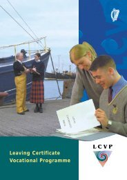 Leaving Certificate Vocational Programme - National Council for ...