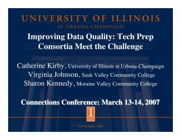 UIUC Connections 2007 - OCCRL - University of Illinois at Urbana ...