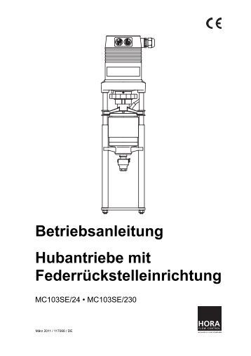 Betriebsanleitung Hubantriebe mit Federrückstelleinrichtung - HORA