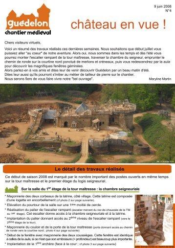 """Château en vue!"" N°4 (PDF - 401 Ko) - Guédelon"