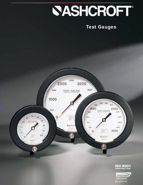 Type 1082 and 1084 Test Gauge - Temp-Press Inc