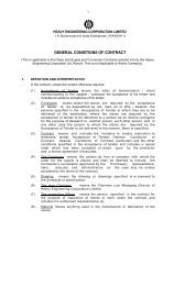 GCC for Purchase Contracts - Heavy Engineering Corporation Limited