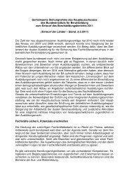 gemeinsame Stellungnahme - Wir gestalten Berufsbildung