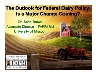 The Outlook for Federal Dairy Policy, Is a Major Change Coming ...