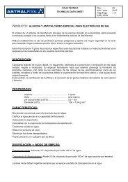 DOSIFICACIÓN y MODO DE EMPLEO - AstralPool