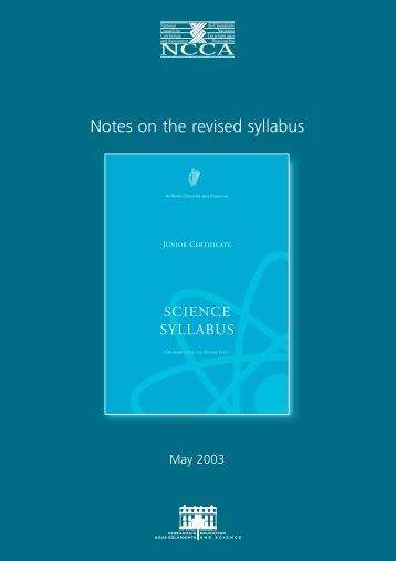 Notes on Revised Junior Certificate Science Syllabus (PDF Format ...
