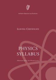 Leaving Certificate Physics Syllabus - Curriculum Online