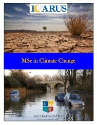 MSc in Climate Change MSc in Climate Change - ICARUS