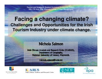 Facing a changing climate? - ICARUS - National University of ...
