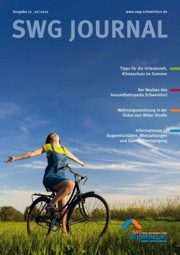Mieter Journal der SWG - Ausgabe 12 - SWG Stadt- und Wohnbau ...