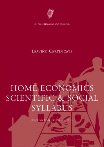Home Economics Scientific & Social Syllabus ... - Curriculum Online
