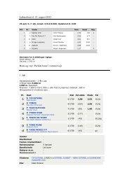 Løbsreferat d. 13. august 2012 Bane og vejr: Perfekt ... - Skive Trav